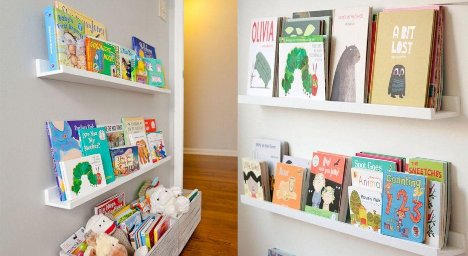 C mo almacenar libros y cuentos infantiles nuestra tribu - Baldas para cuadros ...