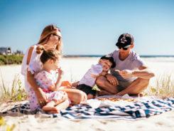 menú para playa en familia